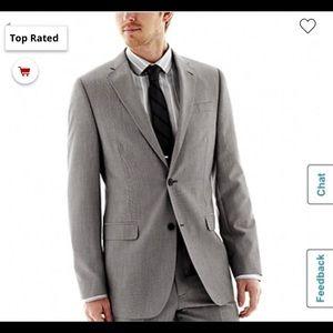 JF Ferrar End-on-End Suit Jacket Slim Fit GREY 42r